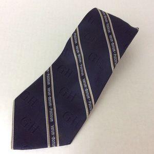 Verum Bonum Pulchrum GH Navy Polyester Tie OS EUC